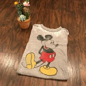 Disney | Mickey Mouse graphic burnout soft tee